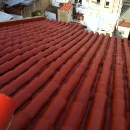 Cubierta de cerámica impermeabilizada