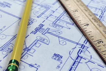 Plano de arquitecto de reforma de un inmueble
