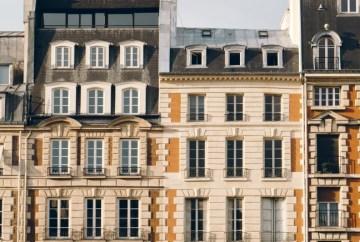 Imagen de cuatro fachadas rehabilitadas